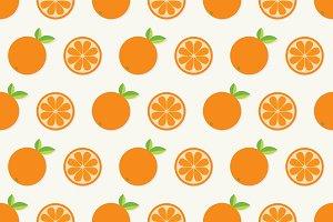 Orange fruit pattern set