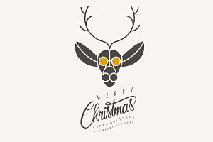 Merry Christmas! Deer illustration