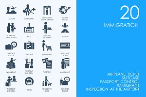 Immigration icons