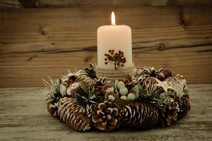 Elegant candle Christmas