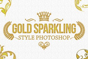36 Gold Sparkling Style Photoshop V2