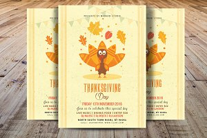 Thanksgiving Day Flyer Template V1