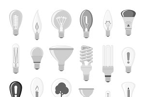 Cartoon lamps electric vector