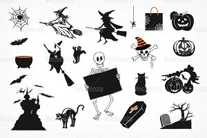 Spooky Halloween Brush Pack