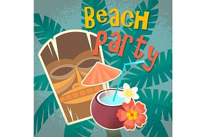 Beach Hawaiian party