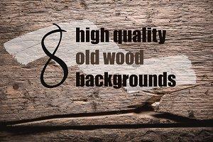 Bundle, 8 old wood backgrounds