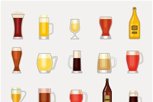 Beer bottle vector