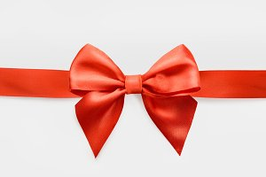 red satin bow