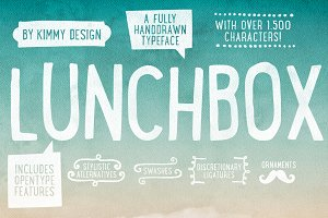 Lunchbox ALL + Webfonts