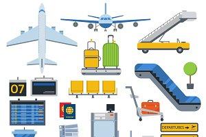 Vector airport symbols