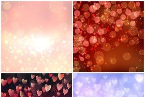 Bokeh vector seamless patterns