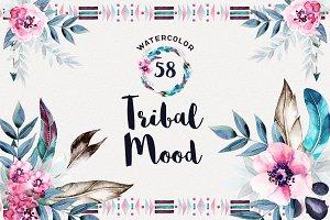Watercolor Tribal  Mood