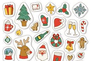 Vector christmas symbols