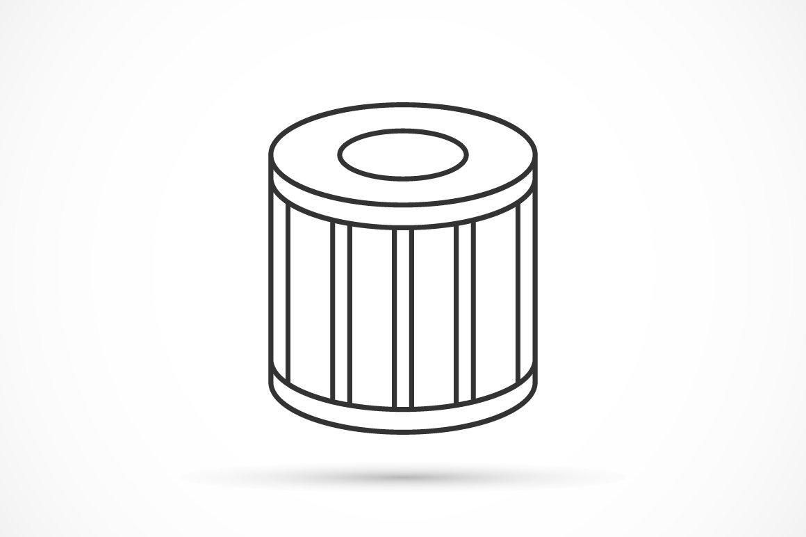 Car oil filter outline icon ~ Icons ~ Creative Market