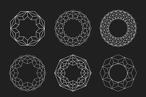 Circle shapes. Geometric Mandalas.
