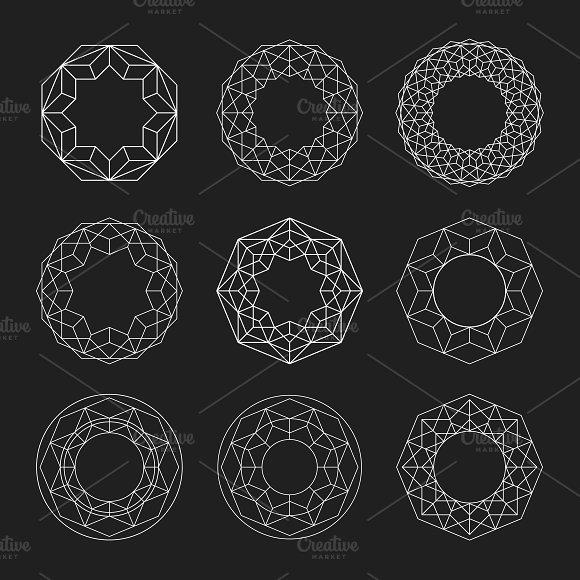 Circle shapes. Geometric Mandalas. - Patterns