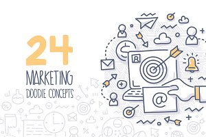 24 Marketing Doodle Concepts