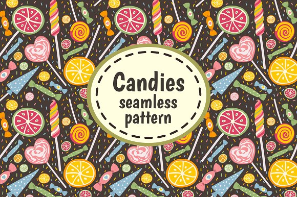 Candies and Sweets. Seamless pattern - Patterns