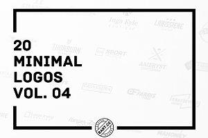 20 Minimal Logos vol. 04