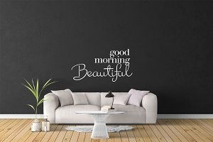 Wall Mockup - Sticker Mockup Vol 24