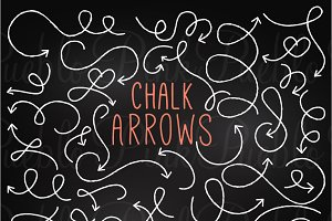 Chalkboard Arrows Clipart & Vectors