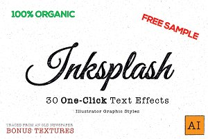 Inksplash - Illustrator Text Effects