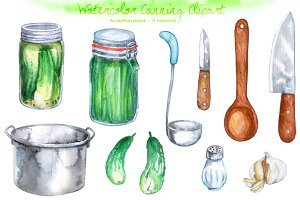 Kitchen - Cooking Watercolor Clipart