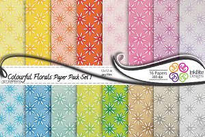 Colorful Floral Paper Pack