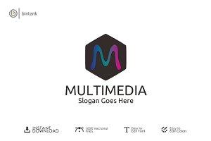 Multimedia - M Letter Logo