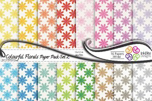 Colorful Floral Paper Pack Set 2