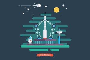 Rocket launch.
