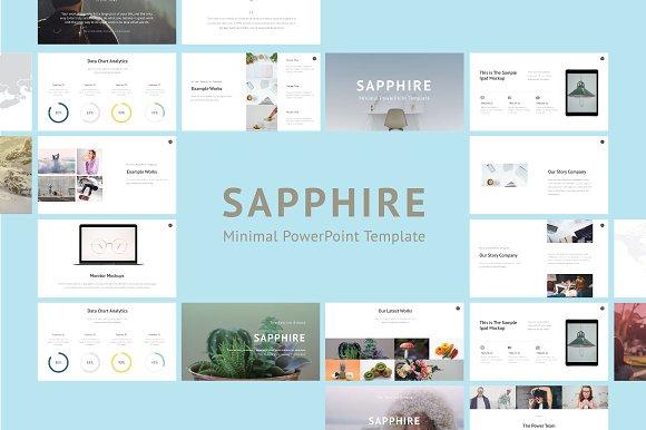 Saphhire Minimal PowerPoint Presentation Templates Creative Market