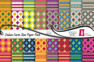 Indian Sari Paper Pack - Ikat