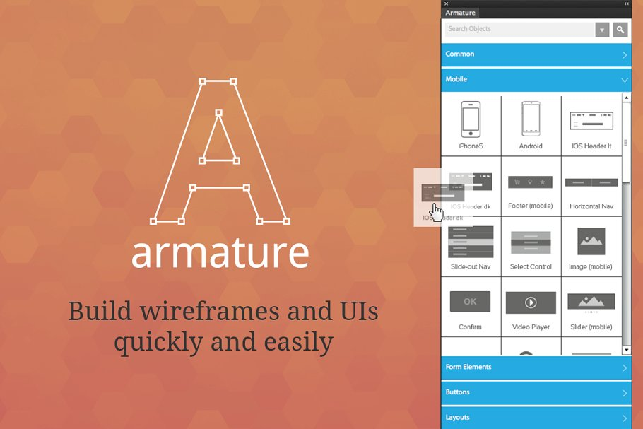 Armature - drag-n-drop wireframing ~ Photoshop Add-Ons