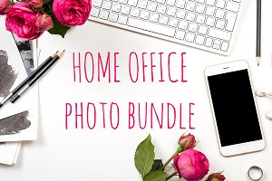 SALE: 6 white office photo bundle