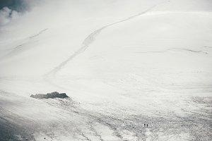 Way to the mountain summit