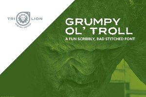 Grumpy Ol' Troll - Stitched Font