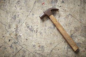 Hammer  on concrete