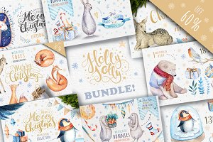 60%off Watercolour Christmas BUNDLE!