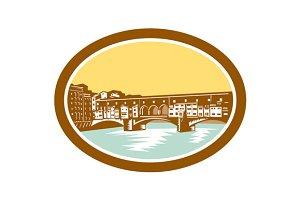 Arch Bridge Ponte Vecchio Florence W