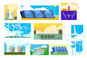 Energy Sources Symbols