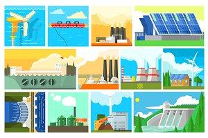 Eco Energy Symbols