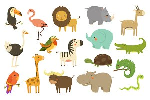 Cute Woodland and Jungle Animals