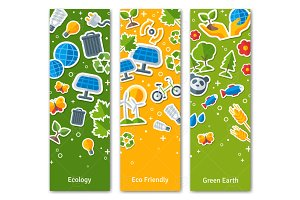 Eco banners with stickers