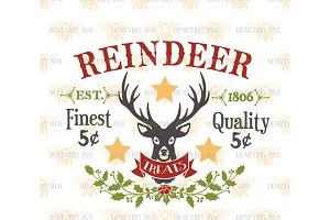 Reindeer Treats SVG EPS DXF JPG