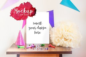 Party Mockup With Decoration
