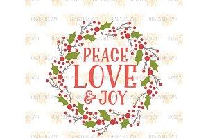 Peace Love And Joy SVG EPS DXF JPG