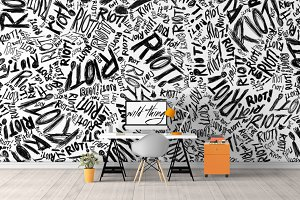 Wall Mockup - Sticker Mockup Vol 36