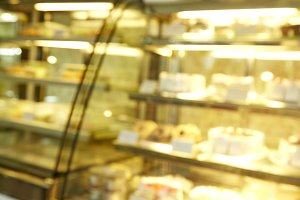 blurred bakery background