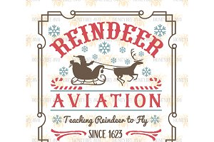 Reindeer Aviation SVG EPS DXF JPG